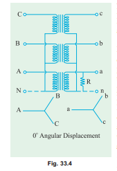 Transformer,three phase:Star/Star or Y/Y Connection