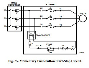 motor control diagram start stop motor image electric control fundamentals motor control circuits electric on motor control diagram start stop