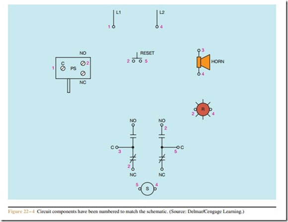 developing a wiring diagram electric equipment developing a wiring diagram circuit 1 0749