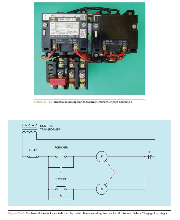 forward re verse control developing a wiring diagram and when the reverse contactor is energized start winding lead t5 will be connected to l2 and t8 will be connected to l1