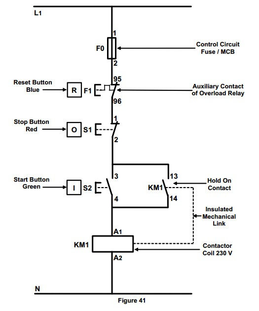 l t dol starter circuit diagram car starter circuit diagram #11