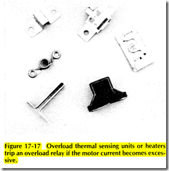 Figure 17 17 Overload thermal sensing units or heaters trip an overload relay if the motor current becomes excessive.