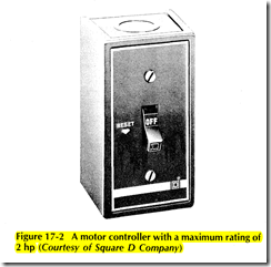 Figure 17 2 A motor controller with a maximum rating of 2 hp (Courtesy of Square D Company)