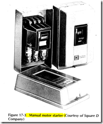 Figure 17 3 Manual motor starter (Courtesy of Square D Company)