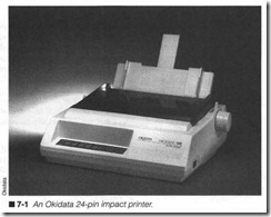 7-1  An Okidata 24-pin impact printer.