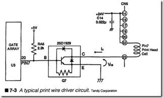 7-3  A typical print wire driver circuit.