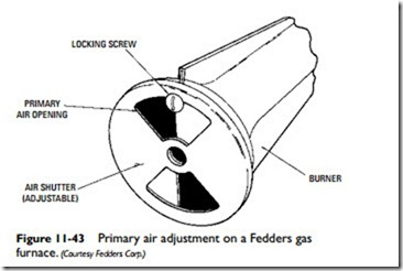Gas Furnaces bustion Air Adjustment on heat furnace