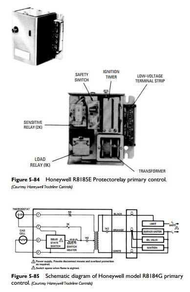 honeywell r8184g wiring diagram furnace fan relay wiring